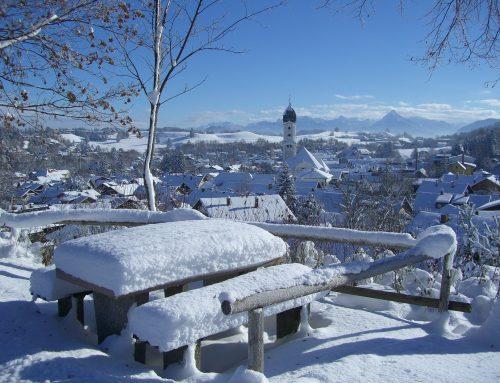 Mit leguanos im Allgäuer Schnee