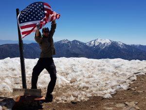 Auf dem Gipfel des Mt. Whitney, USA