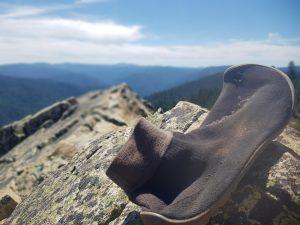 Wandern in leguano Barfußschuhen in den San Bernardino Mountains