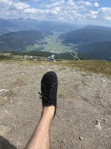 Bergwandern in leguano Barfußschuhen