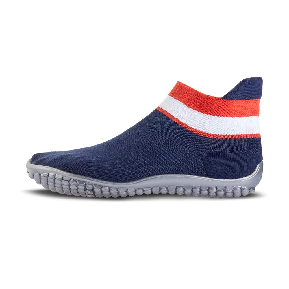sneaker blau, rot-weißer Bund