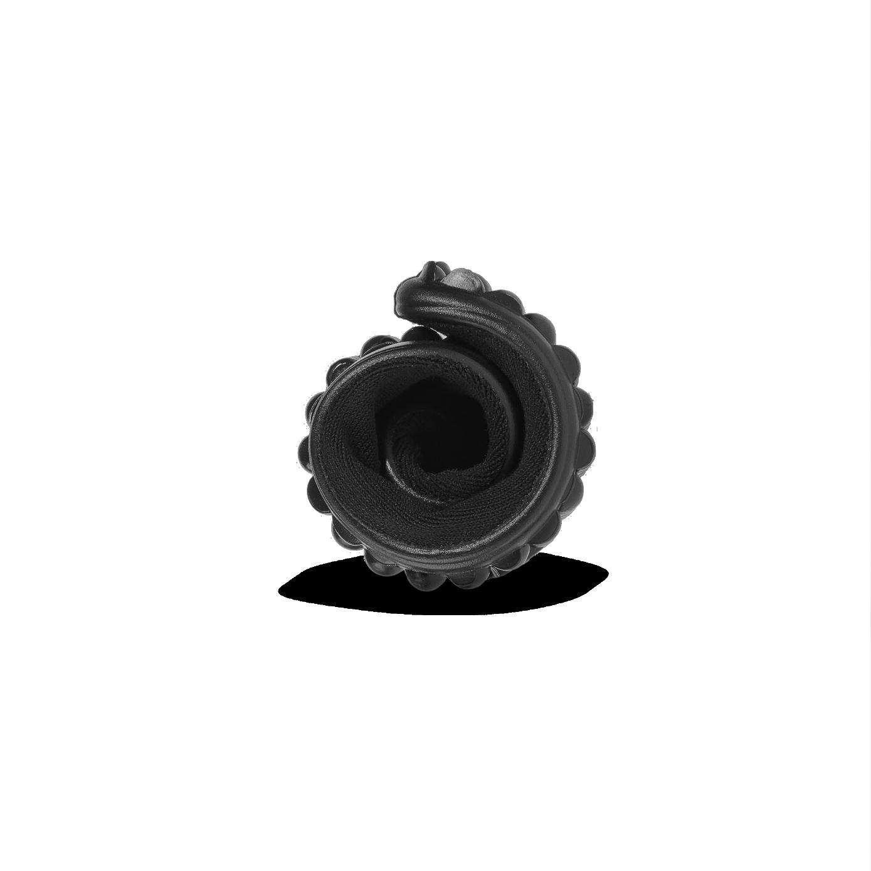 sneaker schwarz, weißer Bund