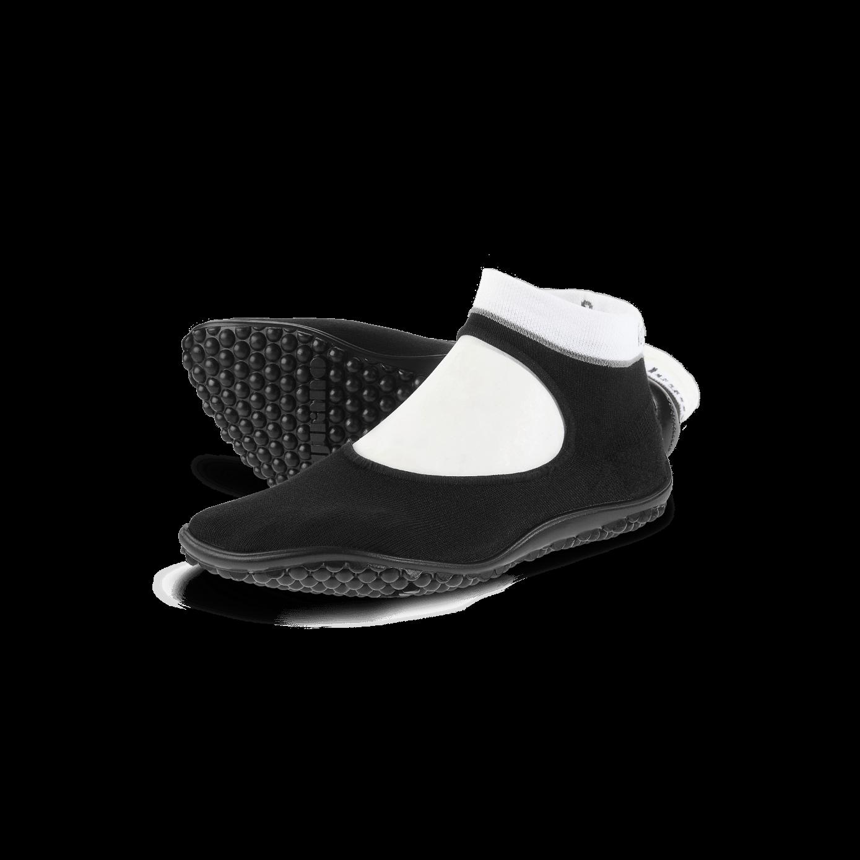 ballerina schwarz, weißer Bund